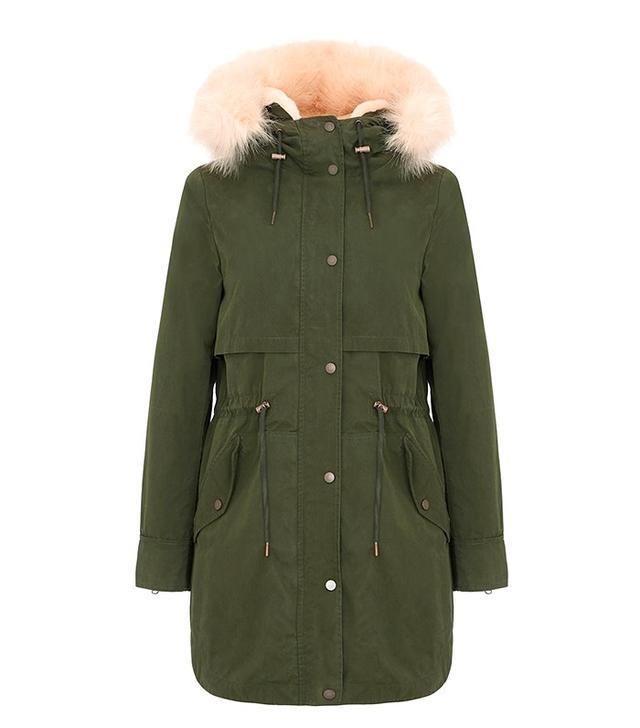 Parka London Fur-Lined Parka Coat