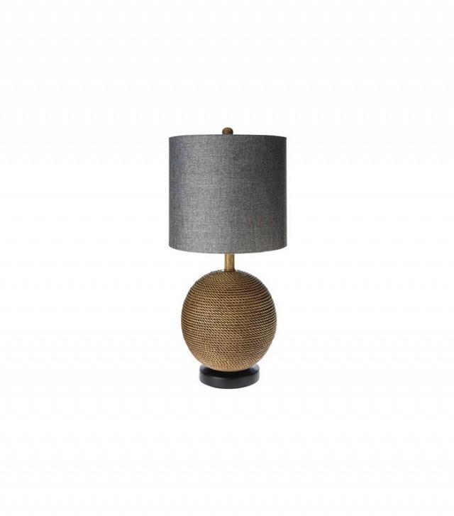 Mudhut Rope Textured Sphere Table Lamp