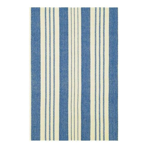 Dash & Albert Rug Company Staffordshire Stripe Blue/Cream Woven Rug