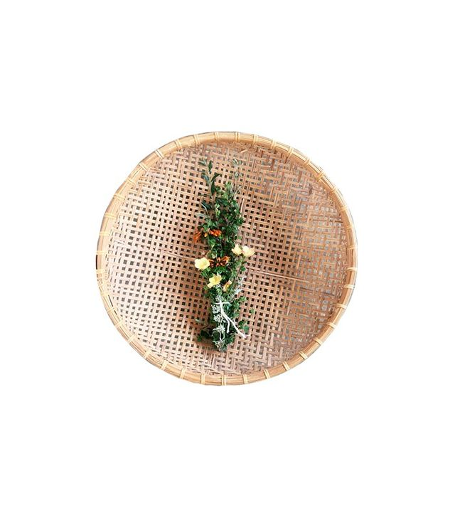 6th and Detroit Vintage Large Woven Basket Tray