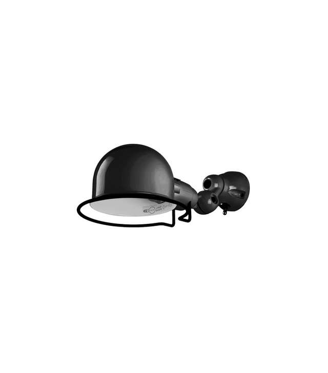 Jielde Black Gloss Flush Wall Light