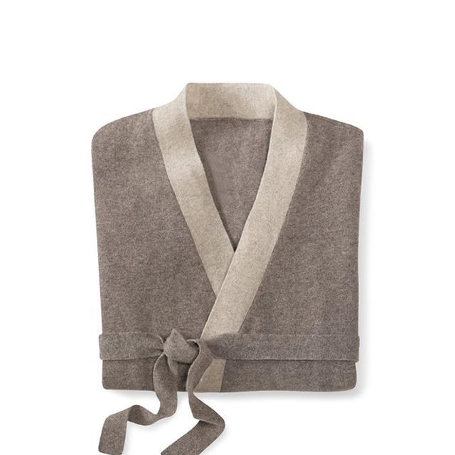 Cashmere Two Tone Bath Robe