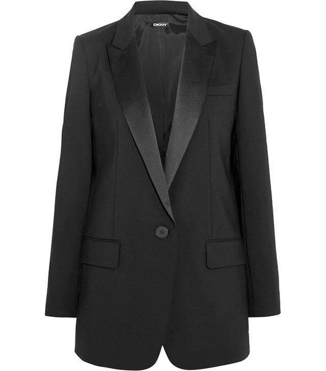 DKNY Stretch-Wool Tuxedo Blazer