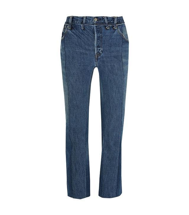 Vetements Patchwork High-Rise Straight-Leg Jeans