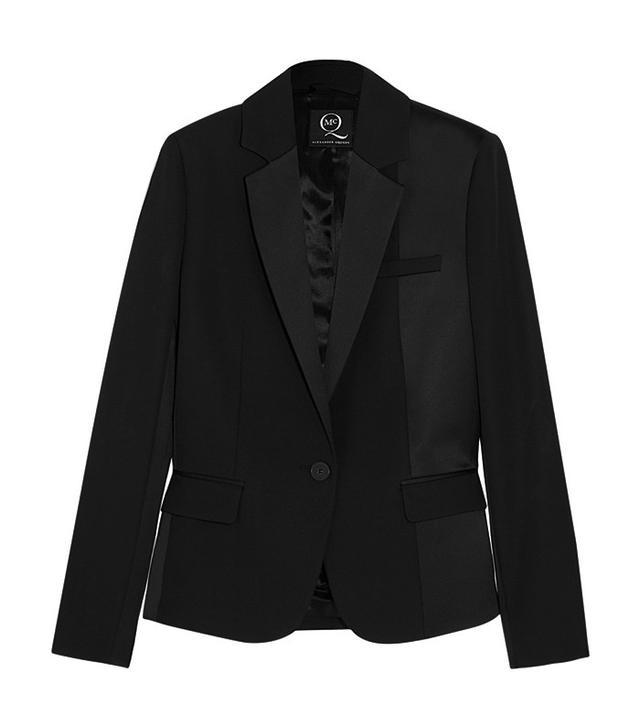 McQ Alexander McQueen Brushed Satin-Paneled Wool Tuxedo Jacket