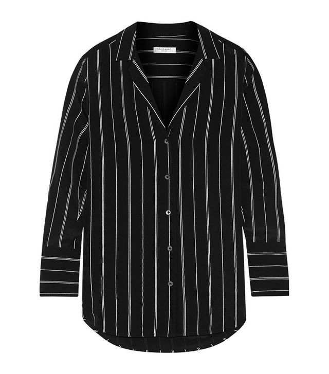Equipment Striped Silk Shirt