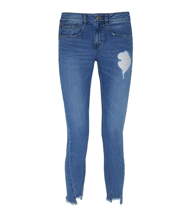 Steve J & Yoni P Distressed Straight-Leg Jeans