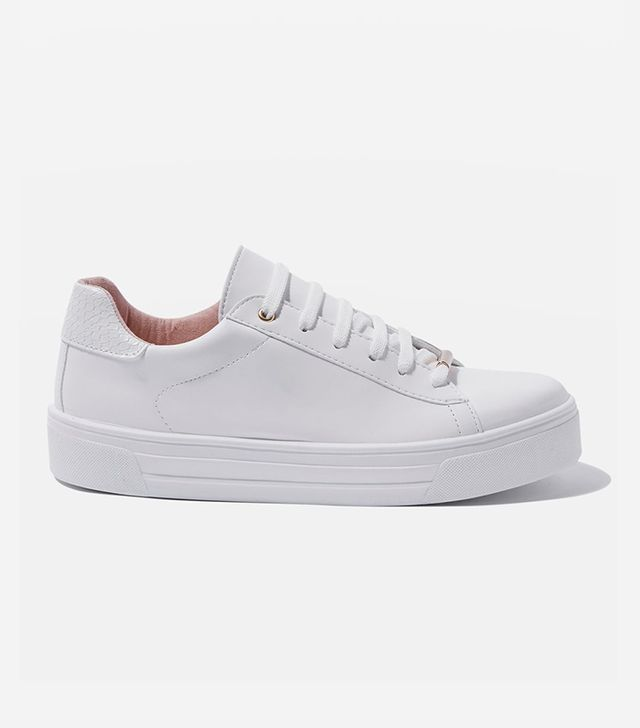 best white sneakers - Topshop Commander Snake Back Trainers