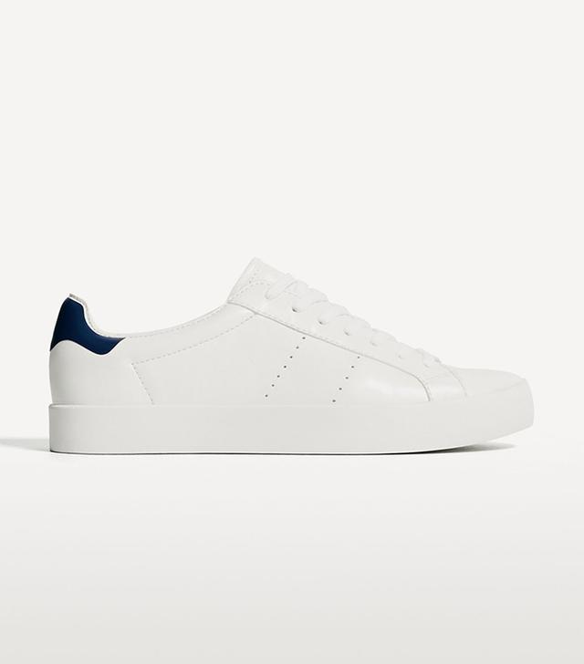 best white sneakers - Zara Basic White Sneakers