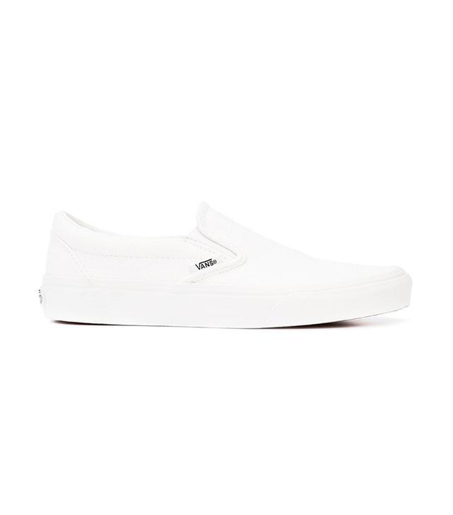 best white sneakers - Vans Classic Slip-On Sneakers