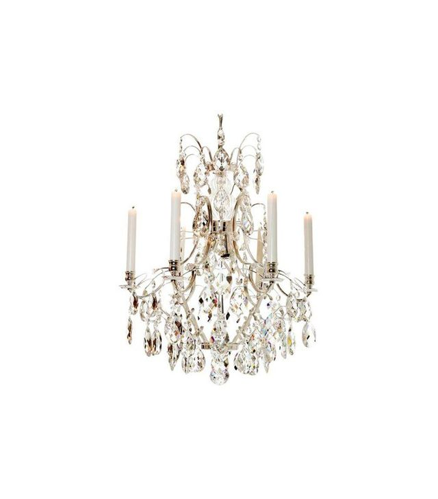 Chairish Silver Baroque Chandelier With Full Cut Crystals