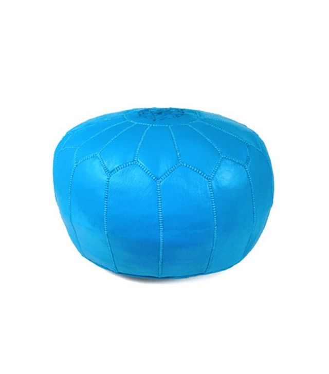 Ikram Design Moroccan Leather Pouf