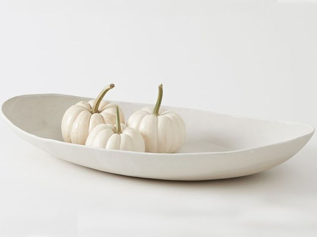 Christiane Perrochon Large Oval Dish in Powder White