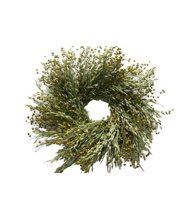 "From the Garden 24"" Avena & Flax Wreath"