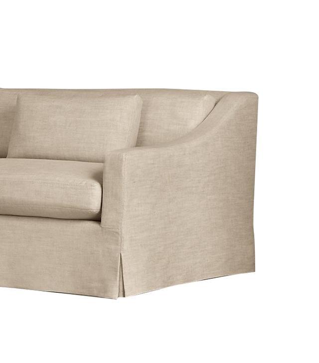 Restoration Hardware Belgian Classic Slope Arm Slipcovered Sofa