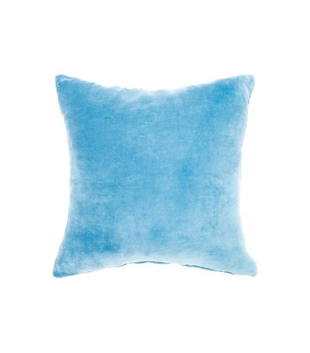 Jiti Solid Blue Velvet Pillow