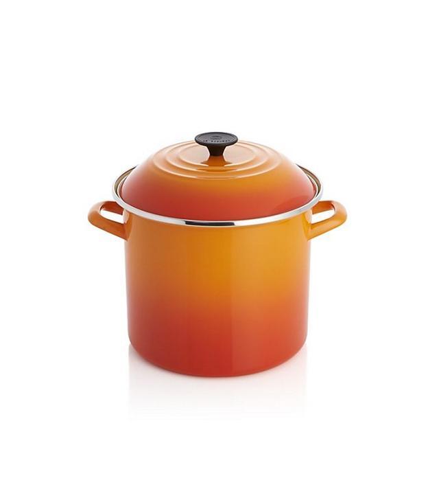 Le Creuset 10-Qt. Flame Enamel Stock Pot With Lid