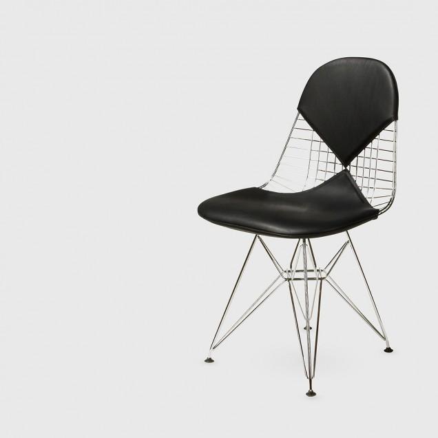 Eames Wire Chair with Black Bikini