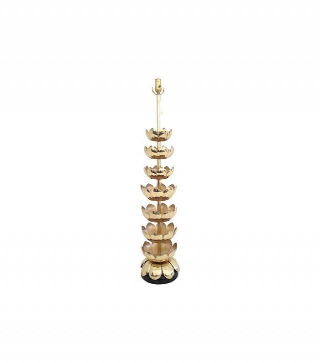 JVB Interiors Brass Lotus Lamp Attributed to Feldman
