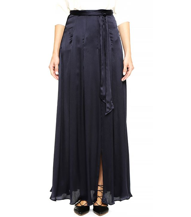 L'Agence Oceane Maxi Skirt with Slit
