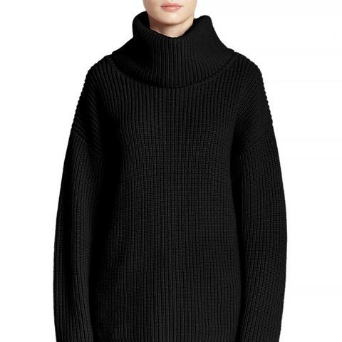 Naven Oversized Ribbed Wool Turtleneck Sweater