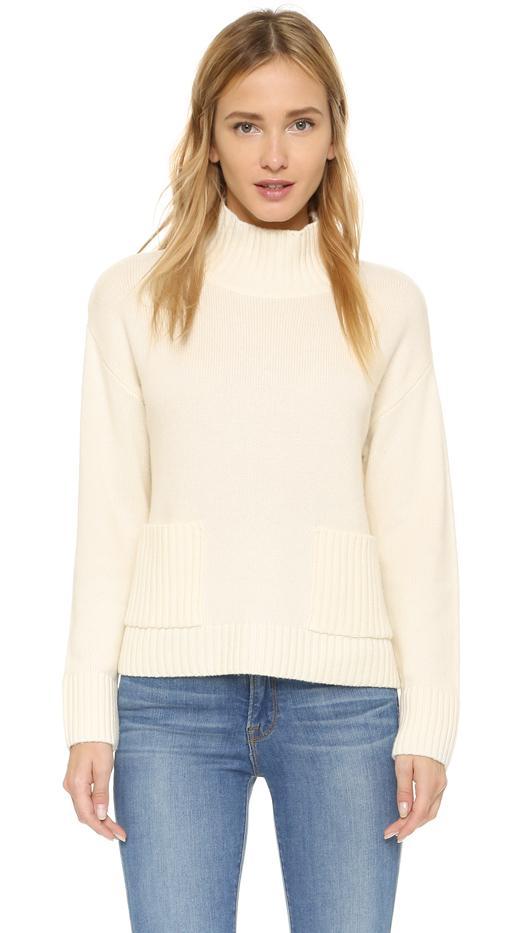 FRAME Le Crop Patch Pocket Sweater