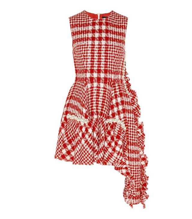 Simone Rocha Embellished Check Dress