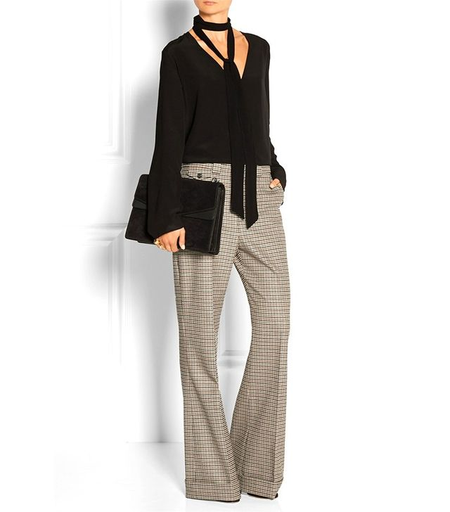 Chloé Check Flare Trousers