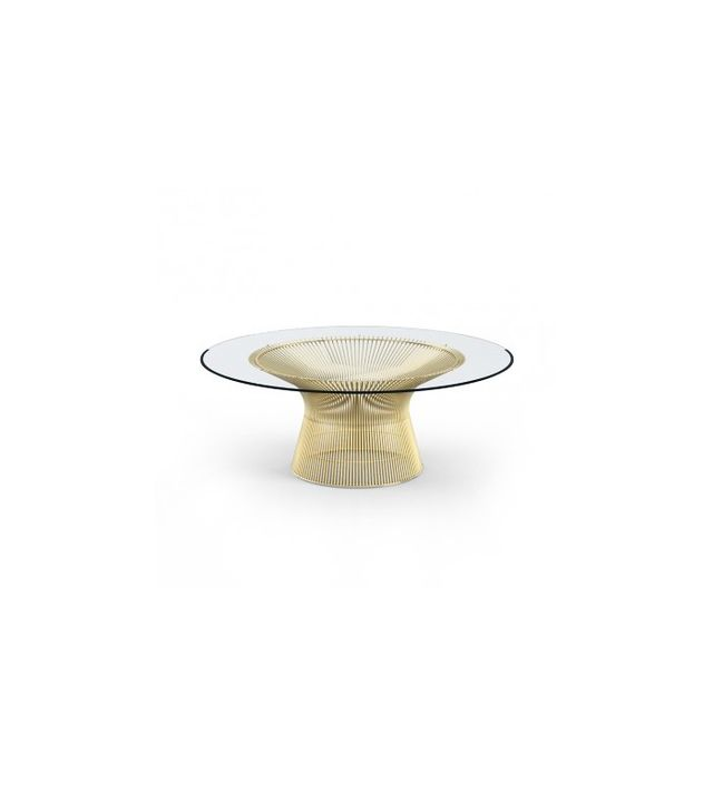 Knoll Platner Coffee Table in Gold