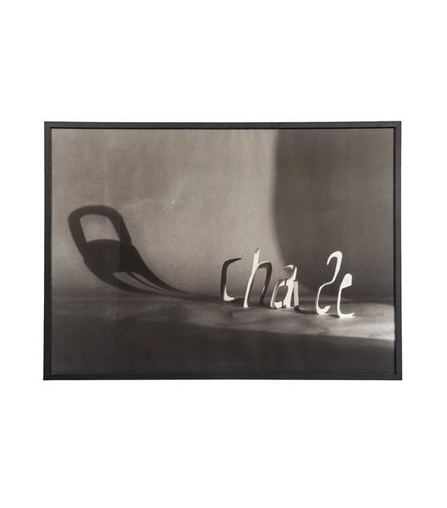 Vintage Framed Black & White Chaise