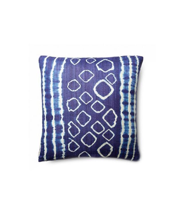 Fiti Dino Silk Pillow in Indigo
