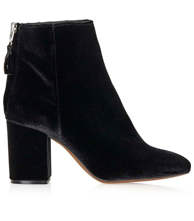 Topshop Money Back Zip Ankle Boots