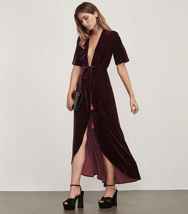 Reformation Bordeaux Dress
