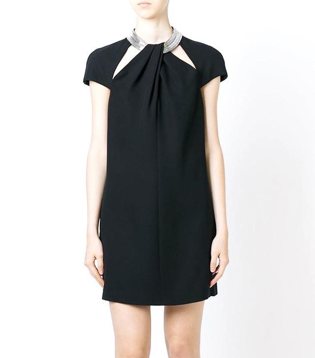 Saint Laurent Twist-Front Dress