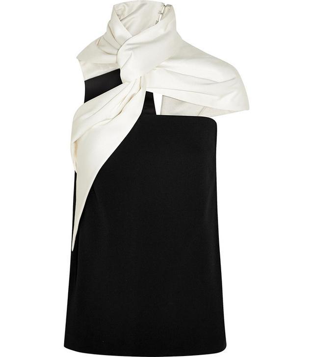 Haider Ackermann Twisted Silk-Blend Cotton Top