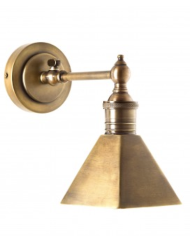 Allissias Attic & Vintage French Style Mayfair Wall Sconce - Brass