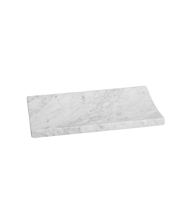 Calvin Klein Artisan Collection Parallax Marble Tray in Blanc