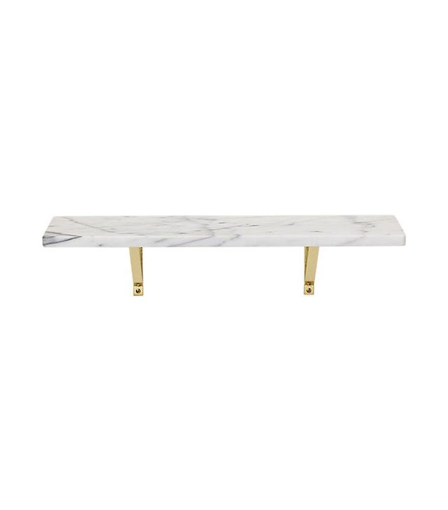 CB2 Marble Wall-Mounted Shelf