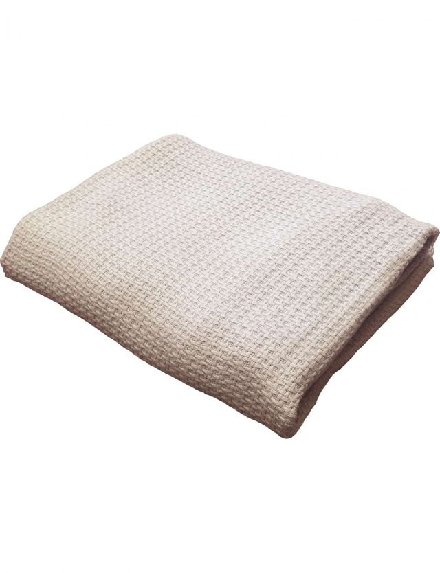 Creswick Moss Stitch Cotton Blanket Queen/King