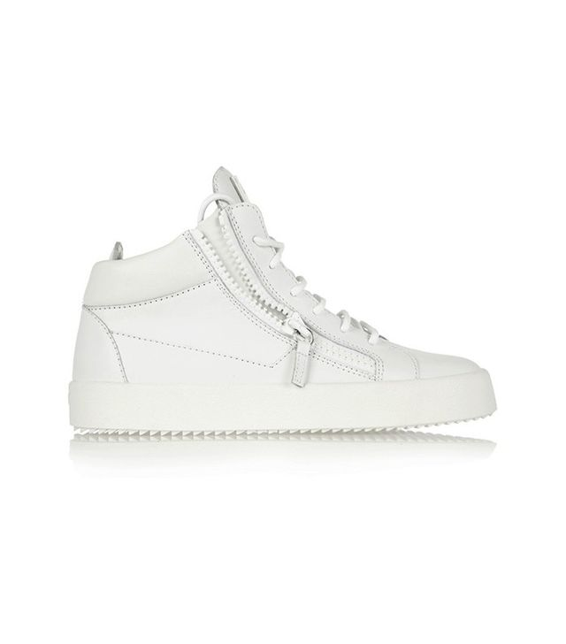 Guiseppe Zanotti Leather High-Top Sneakers