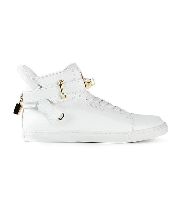 Buscemi Key and Padlock Hi-Top Sneakers