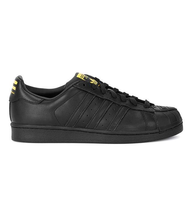Adidas X Pharrell Superstar Supershell Black Leather Trainers