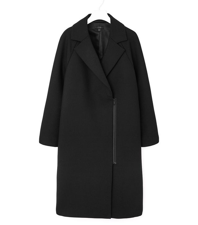 COS Zip-Detail Wool Coat