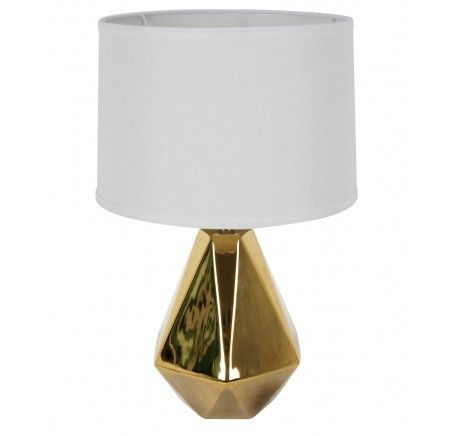 Beacon Lighting Audrey 1 Light Table Lamp in Gold/White