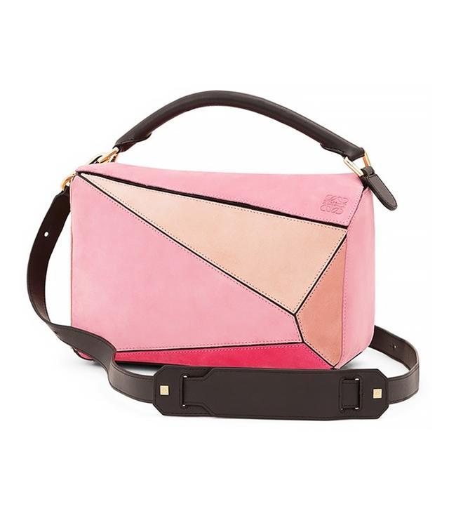 Loewe Small Puzzle Multi Suede Bag