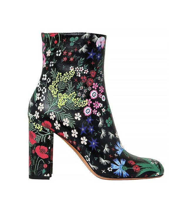 Valentino 90mm Spring Garden Printed Leather Boots