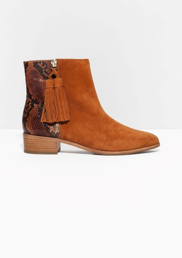 & Other Stories Tassel Detail Ankle Boots