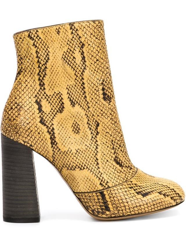 Chloé Chunky Heel Ankle Boots