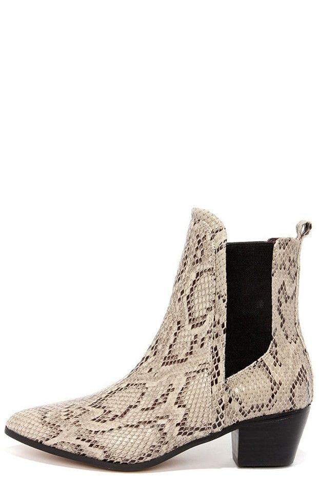 Report Signature Iggby Snakeskin Chelsea Boots