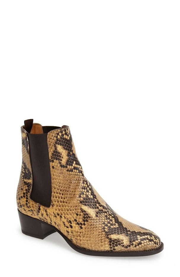 Saint Laurent Wyatt Leather Boots